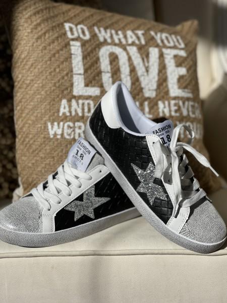 "Sneaker ""Star"" - schwarz"