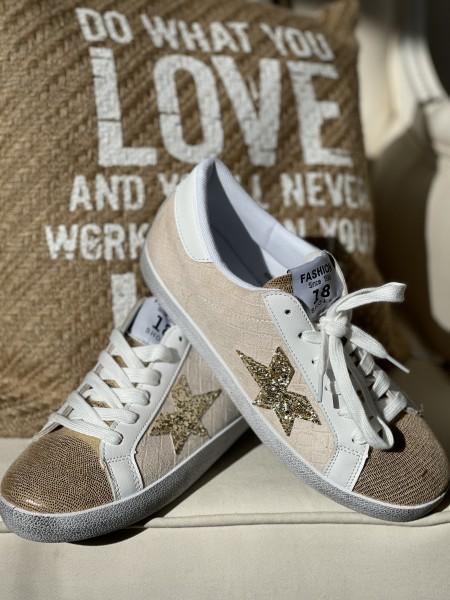 """Sneaker """"Star"""" - beige"""