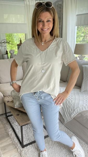 Shirt V-Ausschnitt